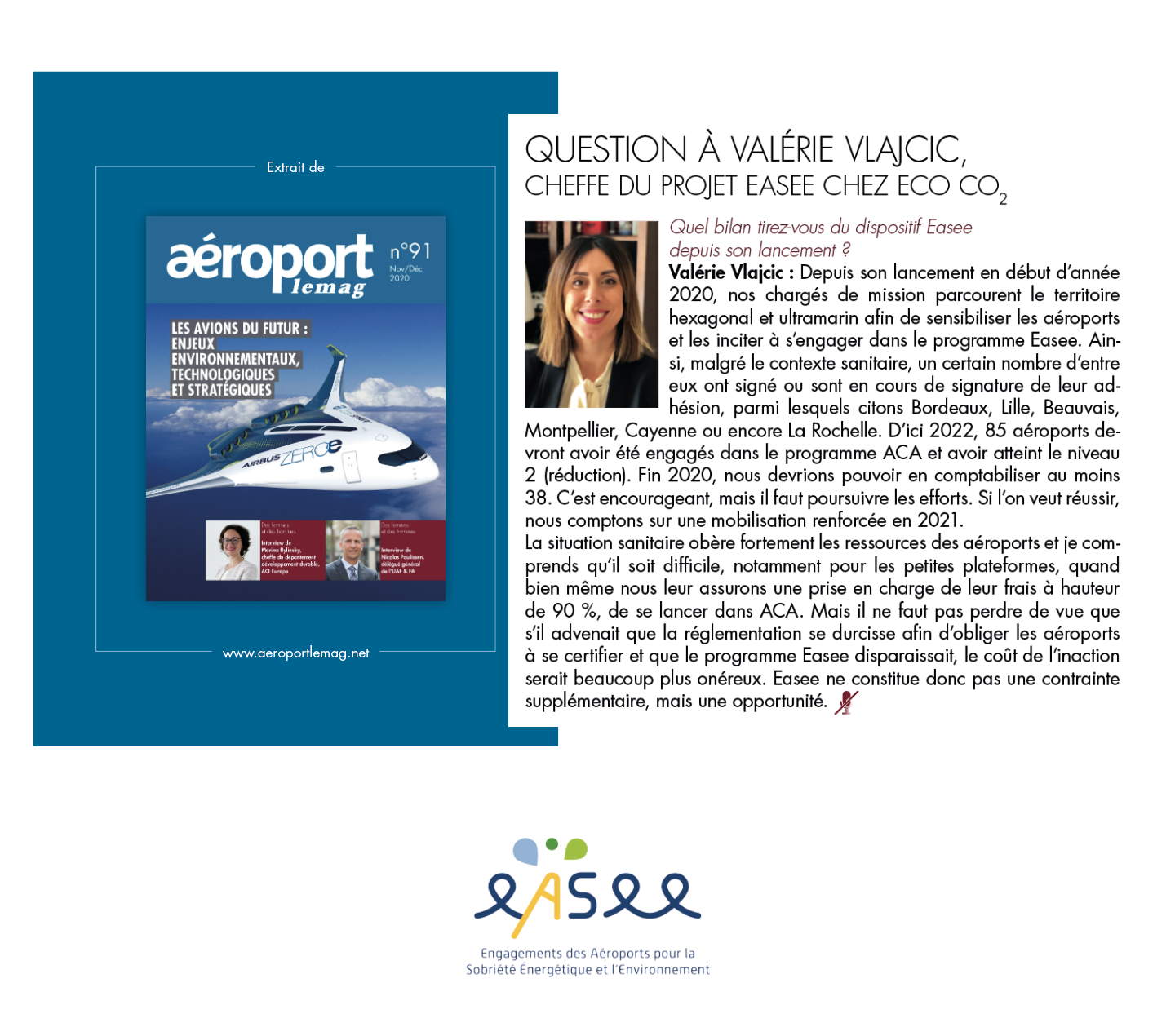Extrait article Aéroport Le Mag - EASEE